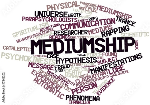 Valokuva  Word cloud for Mediumship