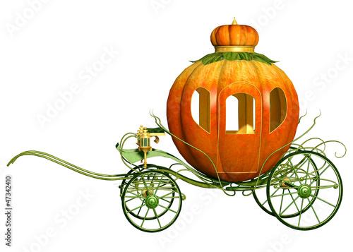 Fotografie, Obraz  Cinderella fairy tale pumpkin carriage, isolated