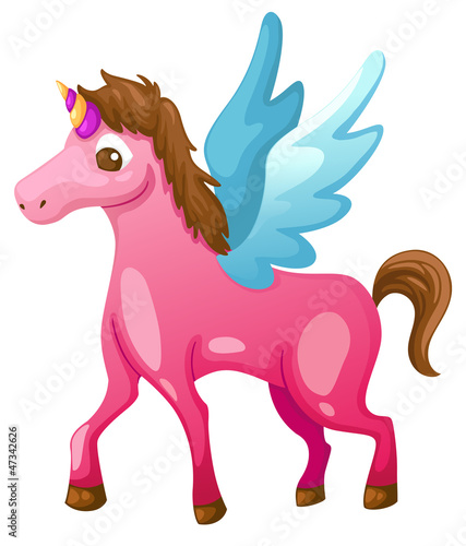 Deurstickers Pony beautiful unicorn vector illustration