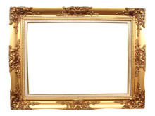 Old Picture Frame On White Bac...