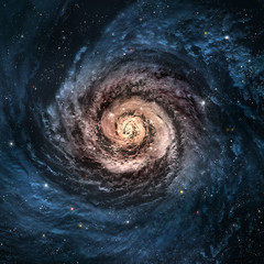 Fototapeta samoprzylepna Incredibly beautiful spiral galaxy somewhere in deep space
