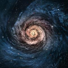 Fototapeta Incredibly beautiful spiral galaxy somewhere in deep space
