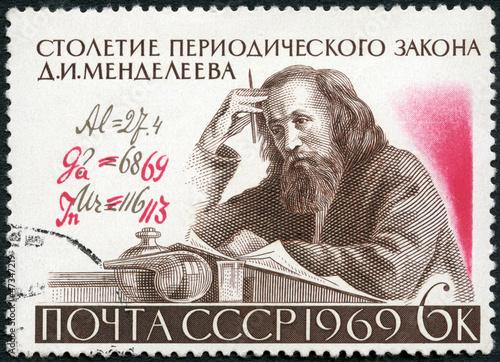 Fotografering  USSR - 1969: shows D.I. Mendeleev (1834-1907)