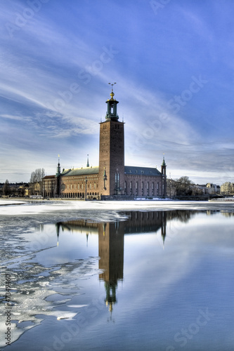 Stockholm City hall in winter. Canvas