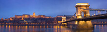 Budapest Historic Night Panorama.