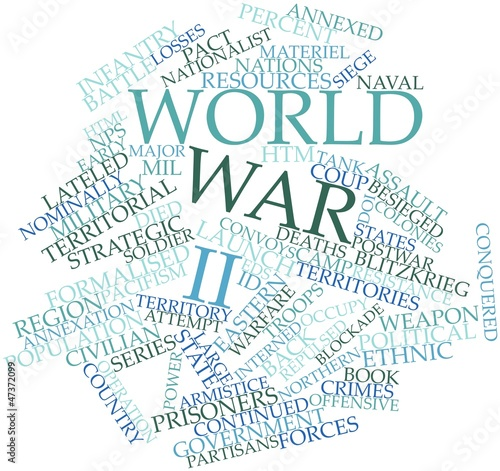 Photo Word cloud for World War II