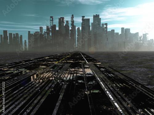 Fotografia, Obraz  Road to dead city