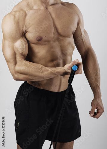 Obraz muscular male torso - fototapety do salonu