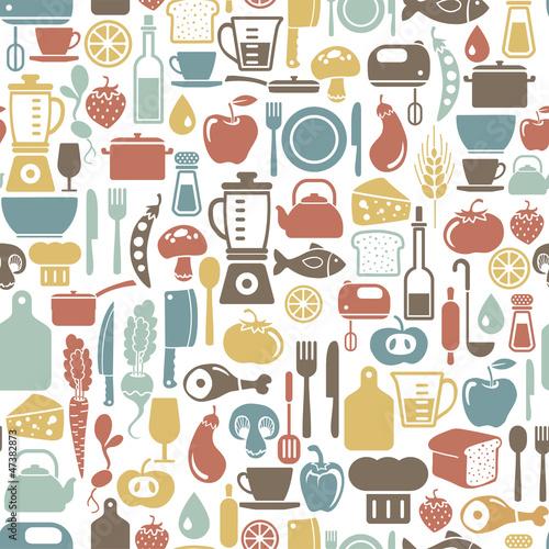 Tapety z jedzeniem i napojami wzor-z-ikony-gotowania