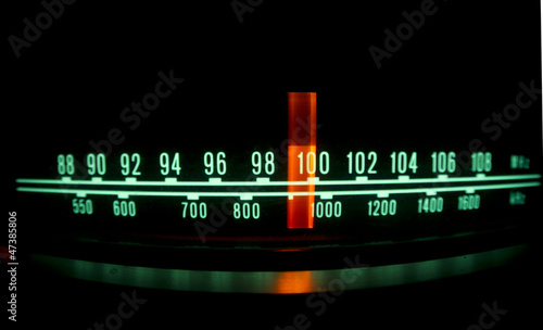 Cuadros en Lienzo radio dial with lights