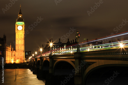 Poster London Great view of Big Ben at night