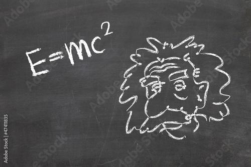 фотография  Einstein's Formula E=mc2 on a blackboard