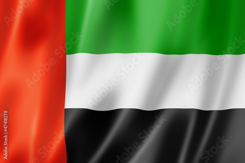 Fotografie, Obraz United Arab Emirates flag