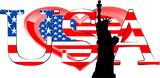 Fototapeta Nowy Jork - symbole usa