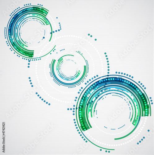 kola-technologii-kolorow-abstrakcyjnych-wektor