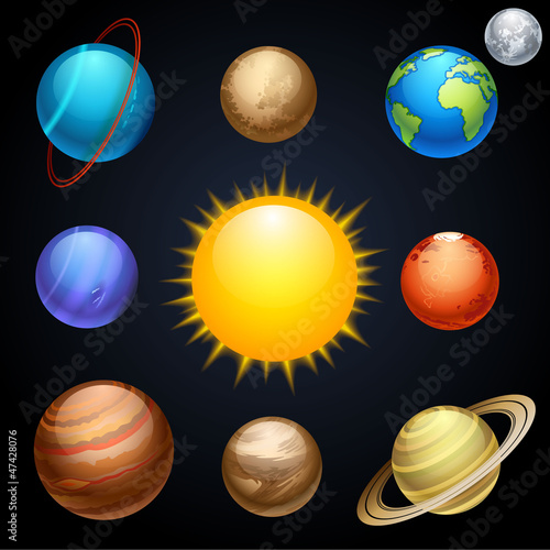 Door stickers Cosmos planets