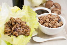 Ground Chicken And Mushrooms F...