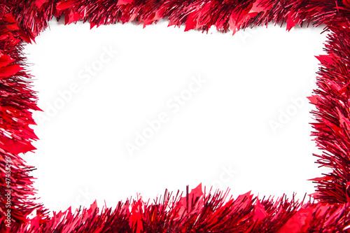 Obraz Frame from  red tinsel - fototapety do salonu
