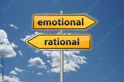 Fotografie, Obraz  Emotional oder rational?