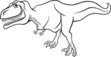 Fototapeta Dinusie - cartoon tyrannosaurus dinosaur for coloring book
