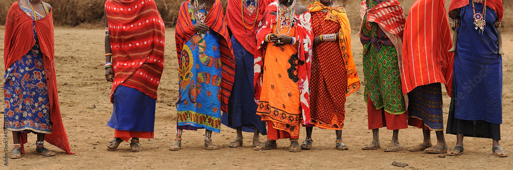 Fototapety, obrazy: Masai donne