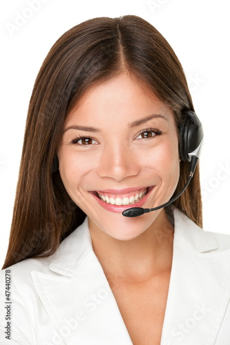 Fotografía  Female call center operator