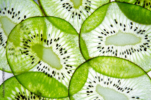 sliced kiwi fruit transparent - 47441401