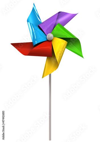 Fotografia, Obraz  Colorful Pinwheel Front
