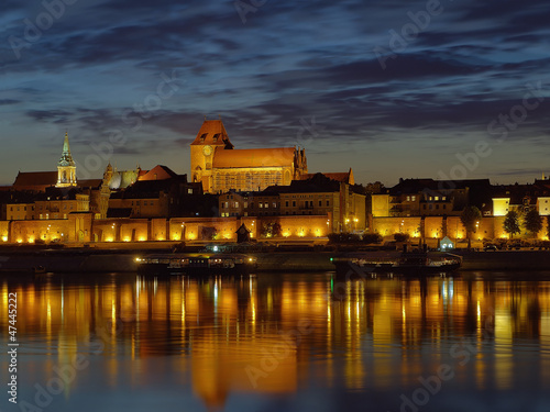 Night view of Torun, Poland.