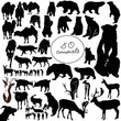 animals it is isolated on a white background