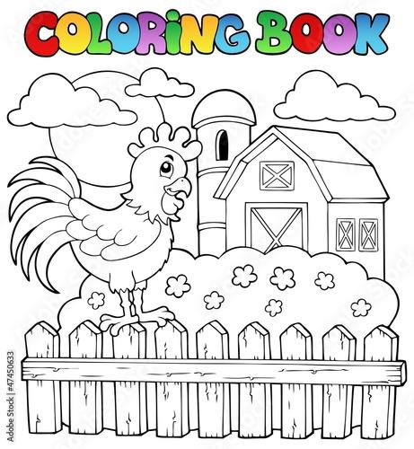 Spoed Foto op Canvas Doe het zelf Coloring book bird image 3