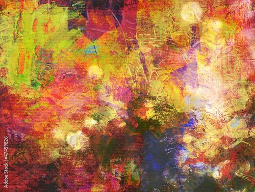Fototapety, obrazy: malerei mischtechnik bunt
