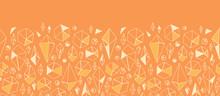 Vector Abstract Geometric Chrystals Horizontal Seamless Ornament