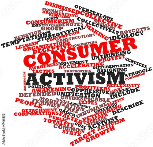 Word cloud for Consumer activism - Buy this stock illustration and ...