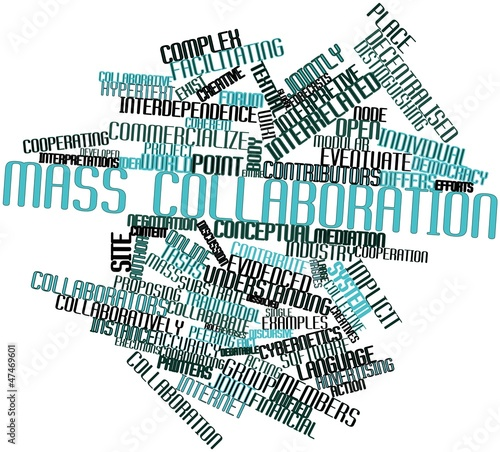 Photo  Word cloud for Mass collaboration