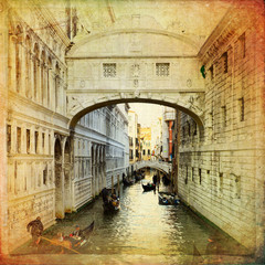 Panel Szklany Do salonu Bridge of Sighs - Venice