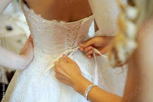 Fotografie, Obraz  Back of Wedding Dress