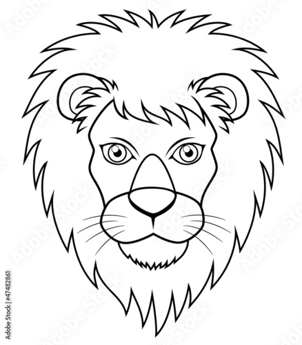 Illustration Of Lion Face Outline Buy This Stock Vector And Explore Similar Vectors At Adobe Stock Adobe Stock Right click to remove from the socket. illustration of lion face outline buy