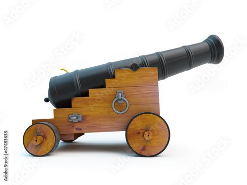 Valokuva Old pirate cannon