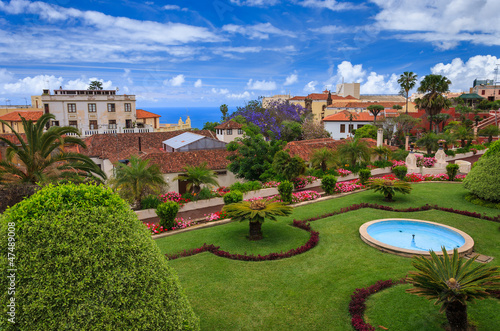 Fotografia  Tropical botanical gardens in La Orotava town, Tenerife