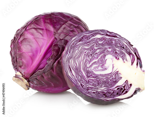 Photo red cabbage isolated on white