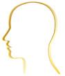 Vektor Kopf Skizze