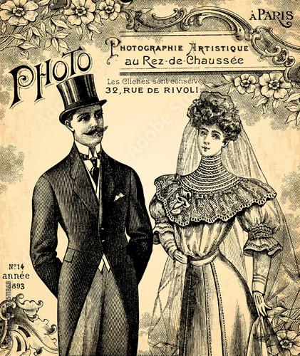 Obrazy na płótnie Canvas Le mariage 1900