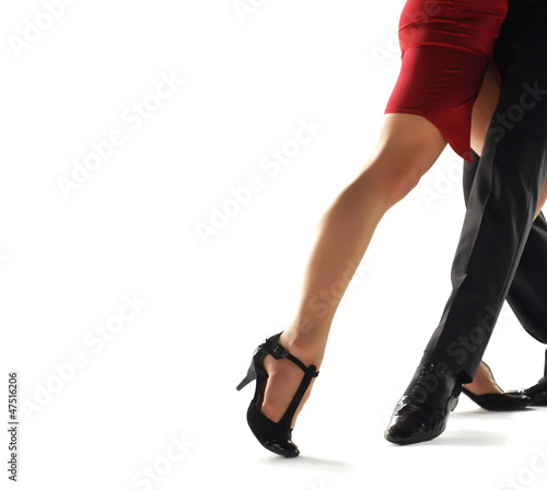 Küchenrückwand aus Glas mit Foto Tanzschule tango dencers
