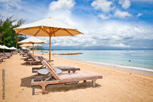 Beautiful Sanur beach on Bali Canvas Print