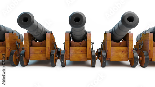 Old cannons Canvas Print