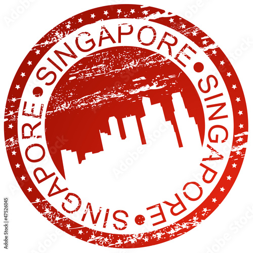 Stamp - Singapore Canvas Print