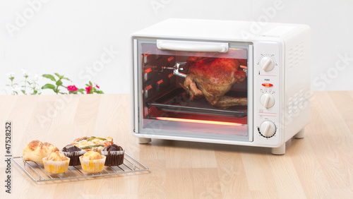 Electric chicken grill or roaster oven fast and convenience to c