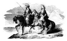 2 Arabian Riders - 19th Century