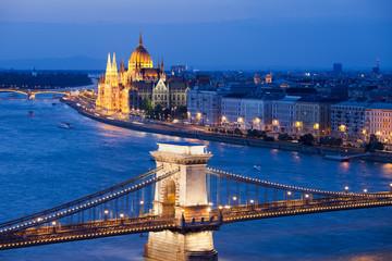 Fototapeta na wymiar Budapest Cityscape at Night